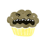 Retro cartoon cupcake Royalty Free Stock Photography