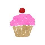 Retro cartoon cupcake Royalty Free Stock Image