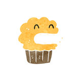 Retro cartoon cupcake Royalty Free Stock Photography