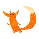 Retro cartoon cute fox Stock Photos
