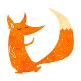 Retro cartoon cute fox Royalty Free Stock Photo