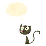 Retro cartoon cute little cat Royalty Free Stock Photography