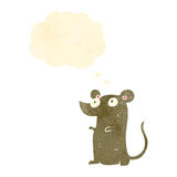 Retro cartoon cute little mouse Royalty Free Stock Images