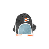 Retro cartoon cute little penguin Royalty Free Stock Images