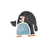 Retro cartoon cute little penguin Stock Images