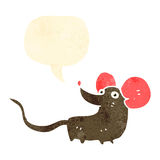 Retro cartoon cute mouse Stock Image