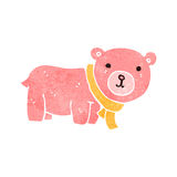 Retro cartoon cute pink teddy bear Stock Photo