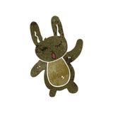 Retro cartoon cute rabbit Stock Image