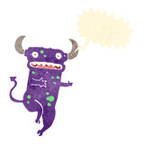 retro cartoon dancing devil Stock Photography