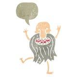 retro cartoon dancing naked old man Royalty Free Stock Image