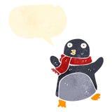 retro cartoon dancing penguin Royalty Free Stock Photos