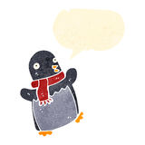 retro cartoon dancing penguin Stock Photo