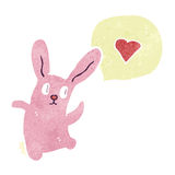 Retro cartoon dancing rabbit Royalty Free Stock Photos