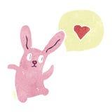 retro cartoon dancing rabbit Royalty Free Stock Photos