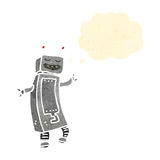 Retro cartoon dancing robot Royalty Free Stock Images