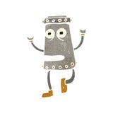 retro cartoon dancing robot Stock Photos