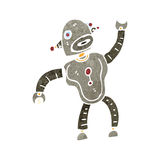 Retro cartoon dancing robot Royalty Free Stock Image
