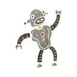 retro cartoon dancing robot Royalty Free Stock Image