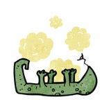 Retro cartoon dead lizard Stock Photos