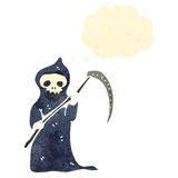 Retro cartoon death with scythe Royalty Free Stock Images