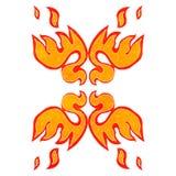 retro cartoon decorative flame symbol Stock Image