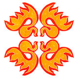 retro cartoon decorative flame symbol Royalty Free Stock Photography