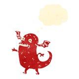 Retro cartoon demon Royalty Free Stock Image
