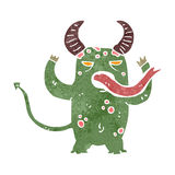 Retro cartoon demon Stock Image