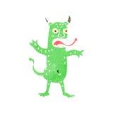 Retro cartoon demon Stock Photography