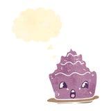Retro cartoon dessert Stock Images