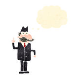 Retro cartoon detective solving case Royalty Free Stock Images