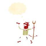 Retro cartoon devil Royalty Free Stock Photo
