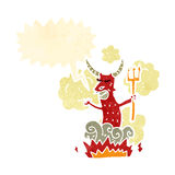 retro cartoon devil Royalty Free Stock Photo