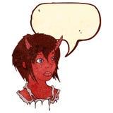 Retro cartoon devil girl Royalty Free Stock Photo