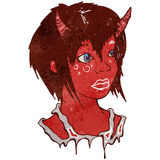 Retro cartoon devil girl Stock Photography