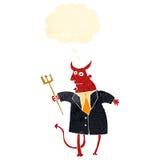 retro cartoon devil in suit Stock Photos