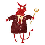 Retro cartoon devil in suit Stock Photos