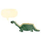 retro cartoon dinosaur Stock Images