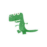 retro cartoon dinosaur Royalty Free Stock Images