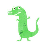 retro cartoon dinosaur Stock Image