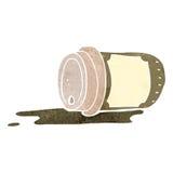 retro cartoon disposable coffee cup stock illustration