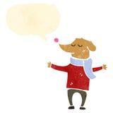 Retro cartoon dog with speech bubble Stock Photo