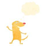 retro cartoon dog with thought bubble Stock Photos