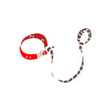 retro cartoon dogs leash Royalty Free Stock Image