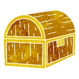Retro cartoon doodle of a treasure chest. A creative illustrated retro cartoon doodle of a treasure chest vector illustration