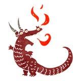 retro cartoon dragon Stock Photos