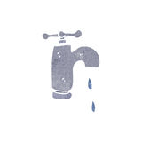 Retro cartoon dripping faucet Royalty Free Stock Images