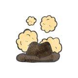 Retro cartoon dusty old hat Stock Photography
