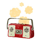 Retro cartoon dusty old tape player Royalty Free Stock Images