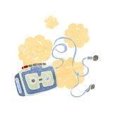 Retro cartoon dusty old tape player Royalty Free Stock Photo